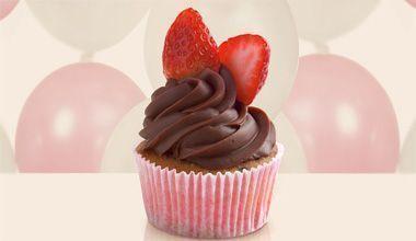 Cupcake de frutas vermelhas