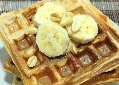 Waffle Proteico de Banana