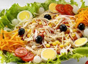 Salada com frango