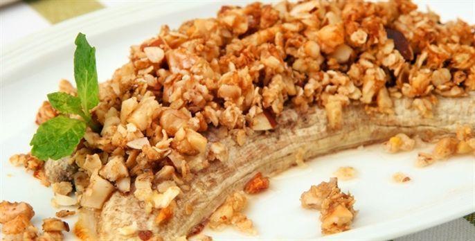 Crocante de banana com castanha-do-Pará