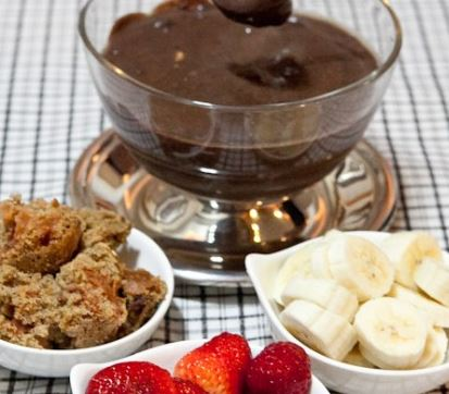 Fondue de chocolate light
