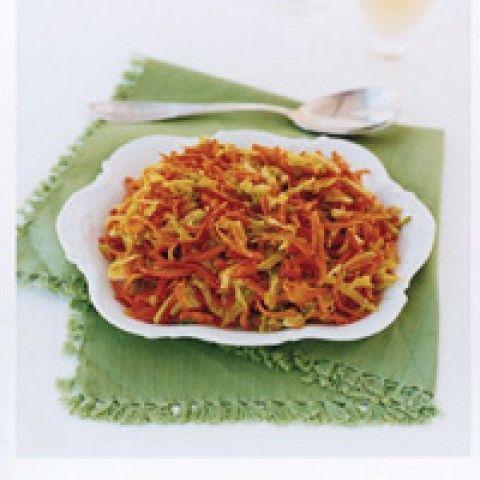 Salada de Brócolis Quente e Cenoura