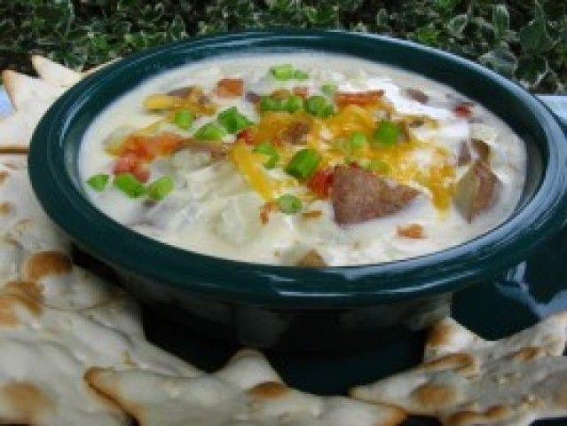 Sopa deliciosa de batata cozida