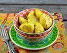 Batatas de microondas com alecrim