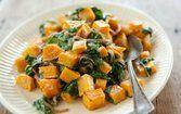 Abóbora com espinafre e gorgonzola