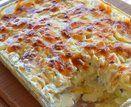 Batata gratinada com queijo e cebola