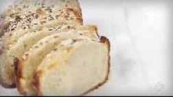 Pão de cebola com cream cheese