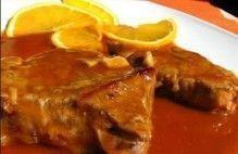 Bife de Avestruz com Laranja