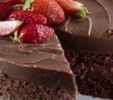 Receita de Bolo de Chocolate com Morango