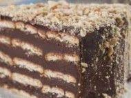 Torta delícia de biscoito