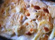 Batata gratinada com cebola caramelizada