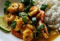 Camarão com Leite de Coco e Curry