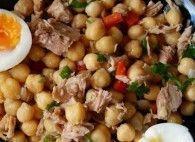 Salada de Grão de Bico e Atum