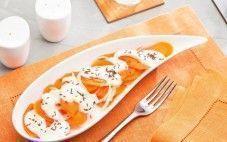 Cenouras com molho de iogurte e kümmel