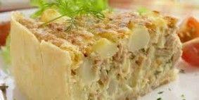 Tortas de atum com batata