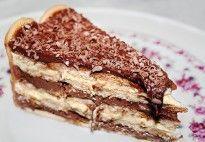 Pavê fácil de chocolate com biscoito maisena