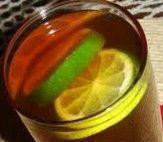 Chá gelado de limão e mate