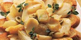 Bacalhau ao forno com pão italiano