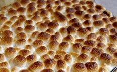 Torta de Batata Doce e Marshmallwos