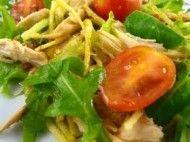 Salada de soja com frango e  mostarda