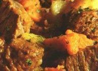 Carne cozida com abóbora