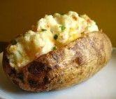 Batata assada com requeijão