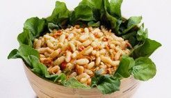 Salada de feijão e pimentão
