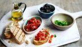 Salsa de tomate fresco (com variações bruschetta)