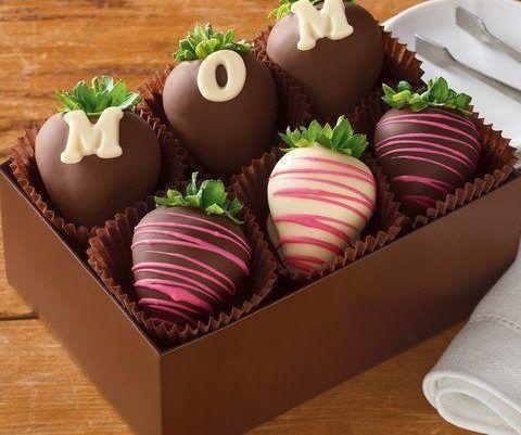 Doces com chocolate para o Dia das Mães