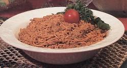 Capelini com tomate picante
