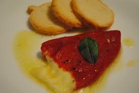 Pimentão recheado com queijo