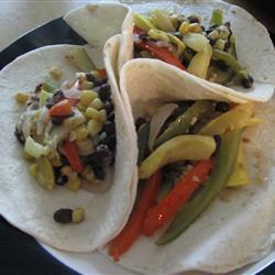 Receita de Fajitas vegetarianas