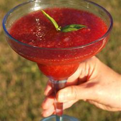 Receita de Margarita de morango com manjericão