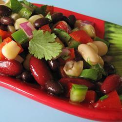 Receita de Salada mexicana de feijões