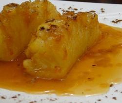 Receita mexicana de Abacaxi caramelado