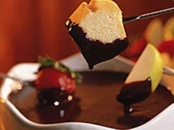 Fondue simples de chocolate