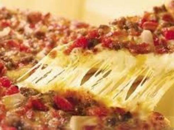 Pizza prática de carne moída
