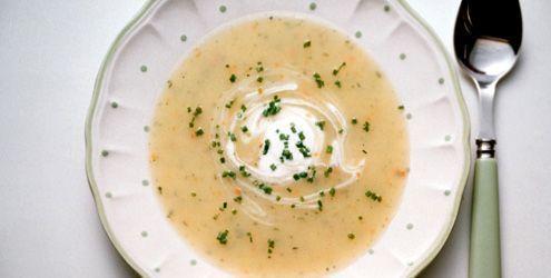 Sopa Cremosa de Batata e Brocolis