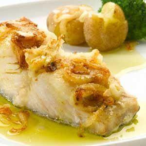 Bacalhau de forno com batata e pimentão