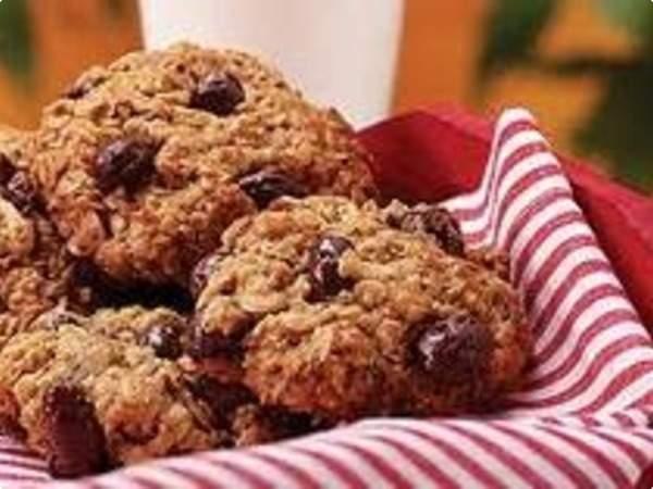 Cookies de Aveia com Chocolate