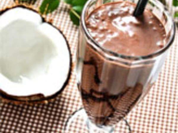 Frapê de coco com chocolate