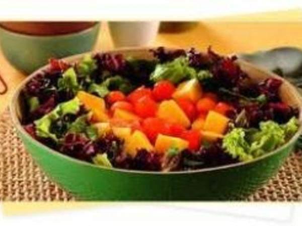 Salada de legumes com mamão