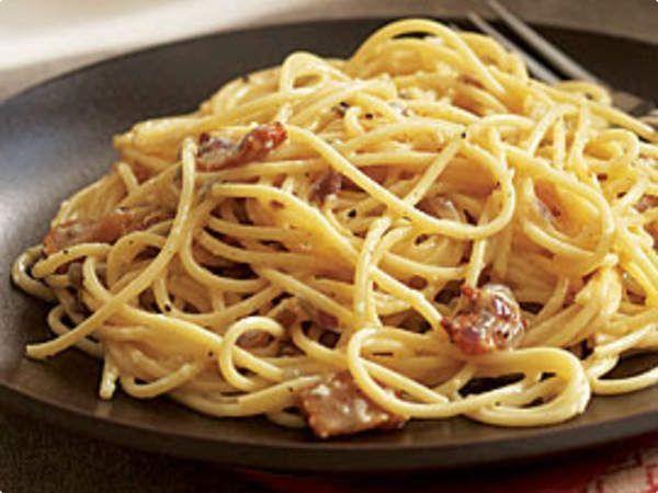 Espaguete à carbonara italiana