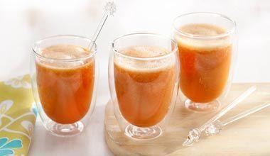 Vitamina de mamão e tangerina