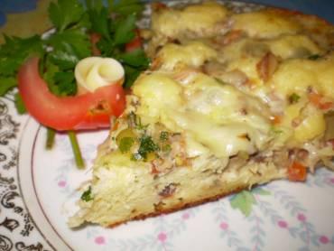 Torta -Pizza rápida de sardinha