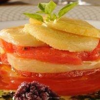 Mil Folhas de Alcachofra com Tomate Confit