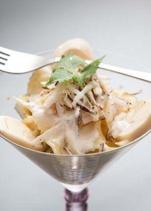 Salada de Macarrão com Palmito e Coco