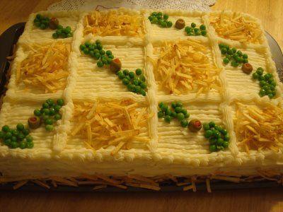 Torta de pão de forma bom