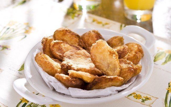 Fritadinhas de maçã e pera com massa de cerveja