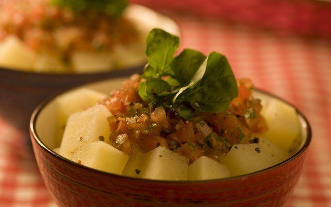 Salada quente de batata light